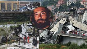 """Vzpomínky přeživších pádu mostu v Janově. Gianluca Ardini: """"Snažil jsem se vydržet, abych viděl narození syna."""""""