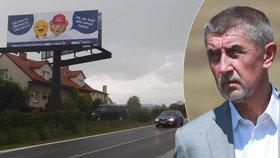 ODS se vysmívá billboardem Andreji Babišovi, který před volbami sliboval obchvaty. Firma Imoba provozující Čapí hnízdo, která patří do jeho svěřenského fondu, se proti obchvatu v Olbramovicích postavila - ministerstvo dopravy pak jeho stavbu zastavilo