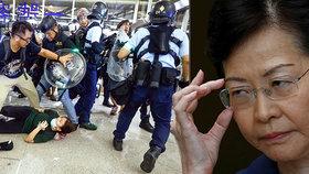 Správkyně Hongkongu Lamová to schytala kvůli protestům, lidé odmítají násilí policie.