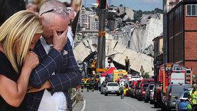V Janově si připomněli rok od tragického pádu dálničního mostu, (14.08.2019).