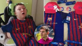 Překvapení pro Adámka (11) v bdělém kómatu po operaci mandlí: Dostal dres od Messiho!