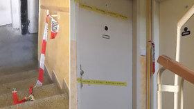 Za těmito dveřmi ke zločinu údajně došlo. Sousedé nesměli ani do sklepa.