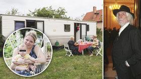 Dcera Petra Hapky (†70): Bydlí i s rodinou v mobilheimu!