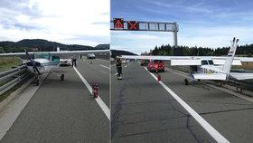 V Chorvatsku přistálo na dálnici letadlo