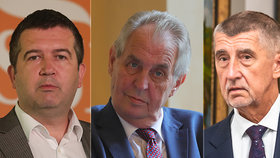 Dva na jednoho: Jan Hamáček z ČSSD teď čelí převaze prezidenta Miloše Zemana a premiéra Andreje Babiše z ANO
