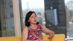 Eurokomisařka Věra Jourová v New Yorku během rozhovoru pro Blesk