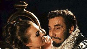 Miloš Kopecký ve filmu Svatby pana Voka (1970). Vášnivě miloval ženy nejen na filmovém plátně, ale i ve svém reálném životě.