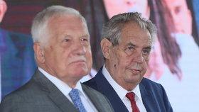 Miloš Zeman a Václav Klaus na Zemi živitelce (22.8.2019)