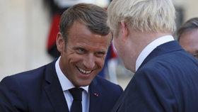 Schůzka britského ministerského předsedy Borise Johnsona a francouzského prezidenta Emmanuela Macrona v Paříži (22. 8. 2019)