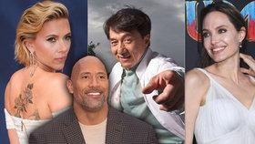 Nejlépe placenou herečkou je Scarlett Johanssonová. Kdo v žebříčku naopak chybí?