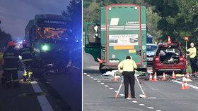 Ranní tragédie u Hodonína: Mezi 4 mrtvými jsou dva malí školáci! Třetí chlapec má vážná zranění