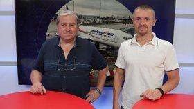 Letecký expert Ladislav Keller byl hostem pořadu epicentrum 28.8.2019. Vpravo moderátor Bohuslav Štěpánek.