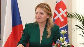 Slovenská prezidentka Zuzana Čaputová musela kvůli zdravotnímu stavu zrušit návštěvu České republiky