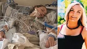 Maddie Nelsonová (18) skončila kvůli vapování v kómatu.