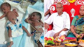 Manžel nejstarší matky světa dostal po narození dvojčátek infarkt.