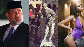 Malajsijský sultán lituje, že si vzal Miss Moskvu.