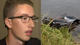 Max Werenka pod hladinou jezera objevil tělo 27 let pohřešované seniorky.
