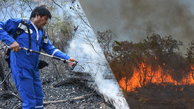 Rozsáhlé požáry v Amazonii.