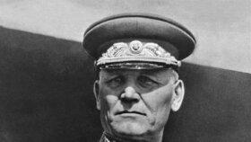 Sovětský maršál Ivan Štěpanovič Koněv.