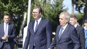 Oficiální státní návštěva českého prezidenta Miloše Zemana v Srbsku (10. 9. 2019)