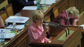 Helena Válková (ANO) v Poslanecké Sněmovně na první schůzi po vládních prázdninách (10.9.2019)