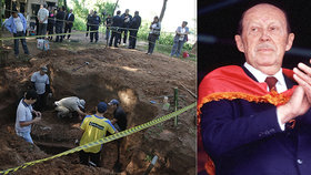 Paraguayská policie zkoumá lidské kosti z domu bývalého diktátora Alfreda Stroessnera. Na snímku obdobný nález z roku 2013.