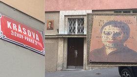 Nová pamětní deska vznikla v Krásově ulici na domě, ve kterém několik let prožila Toyen. Skrývala v něm před nacisty židovského umělce Jindřicha Heislera.