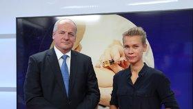 Náměstek ministra zdravotnictví Roman Prymula v Epicentru s Markétou Volfovou (12. 9. 2019)