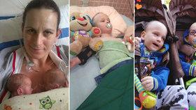 Dvojčátka z Třeboně trpí vážným postižením: Život si vybojovala, chybí ale peníze na léčbu.