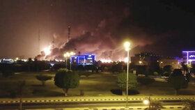 Hořící ropná zařízení