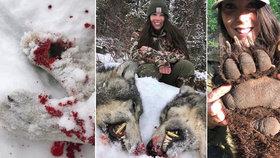 Zdravotní sestra (29) loví medvědy, vlky a jeleny a na sociální síti pózuje v oblečení potřísněném jejich krví! Lidé jí vyhrožují znásilněním