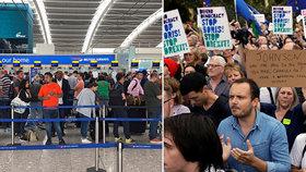 Bude cestování do Británie po brexitu vůbec možné? Zejména v letecké dopravě panují obavy.