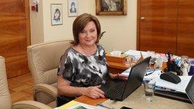 Ministryně financí Alena Schillerová při online chatu se čtenáři Blesk Zpráv.
