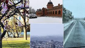 Jeden den pětadvacítky, další den sníh a kalamita. Do Austrálie přichází jaro.