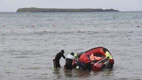 Záchranáři při pátrací akci