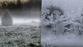 Do Česka přijde mráz, teploty spadnou k minus 7 °C. Víme, kde bude nejchladněji