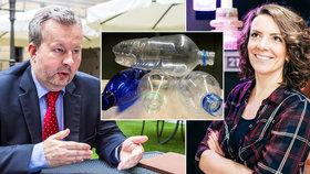 Zavést zálohy na PET lahve a plechovky, nebo ne? Ministr životního prostředí Richard Brabec (ANO) je proti, expertka Soňa Jonášová upozorňuje na výhody.