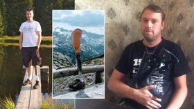 """Osud se s Vladimírem (36) nemazlil: Rakovina mu vzala nohu, grázl protézu. """"Život nejde nalajnovat,"""" říká"""