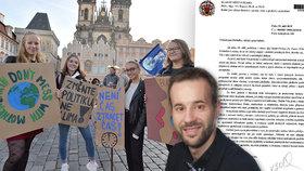 Omluvte účastníky stávky za klima z výuky, žádal pražský radní ředitele škol.