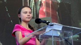 Stávka proti klimatickým změnám v New Yorku a švédská aktivistka Greta Thunbergová (20. 9. 2019)