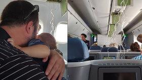 Panika na palubě letadla: Porucha donutila piloty klesat, lidé se loučili s rodinami