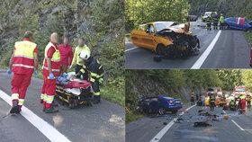 Nehoda mustangu u Špindlerova Mlýna