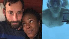Přítelkyně muže, který se utopil při žádosti o ruku, mu poslala do nebe do jemný vzkaz.