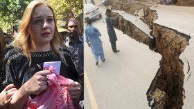 Tereza Hlůšková musela při zemětřesení v Pákistánu utéct z cely.