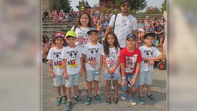 Paterčata strávila léto v zábavním parku, kde pracuje jejich táta: Teď se chystají na poslední předškolní rok!