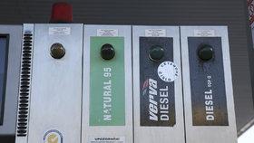 Cena pohonných hmot v Česku klesá (ilustrační foto)