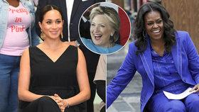 Vévodkyně Meghan si vysloužila pochvalu od Clintonové a Obamové