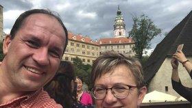 Předseda KDU-ČSL Marek výborný s manželkou Markétou o letošních letních prázdninách.