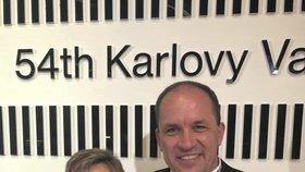Předseda KDU-ČSL Marek výborný s manželkou Markétou na filmovém festivalu v Karlových Varech