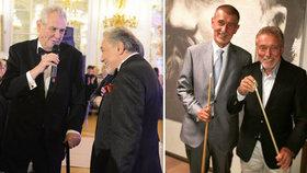 Miloš Zeman a Andrej Babiš s Karlem Gottem. Zlatý slavík zemřel ve věku 80 let, politici nyní truchlí.